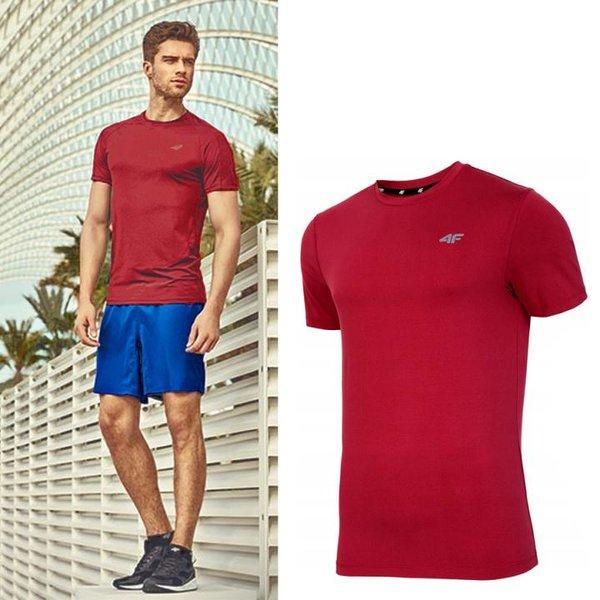 4F - Herren Sport T-Shirt - rot melange