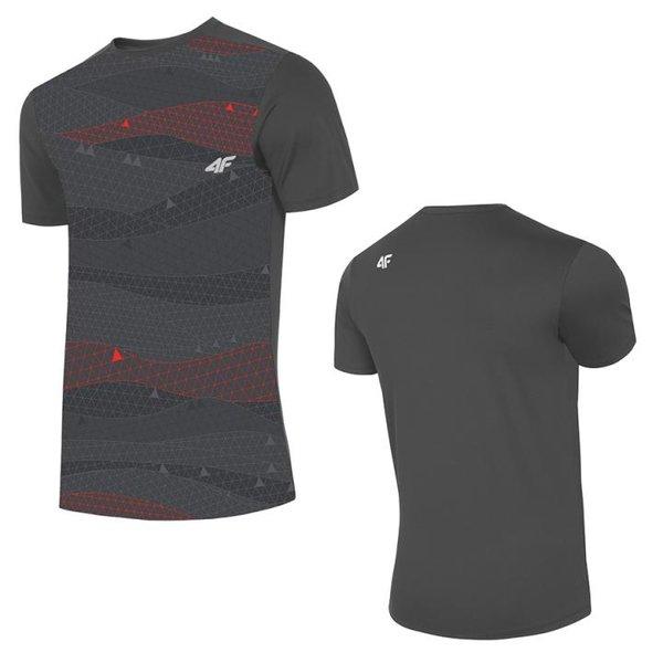 4F - Herren Sport T-Shirt - dunkelgrau