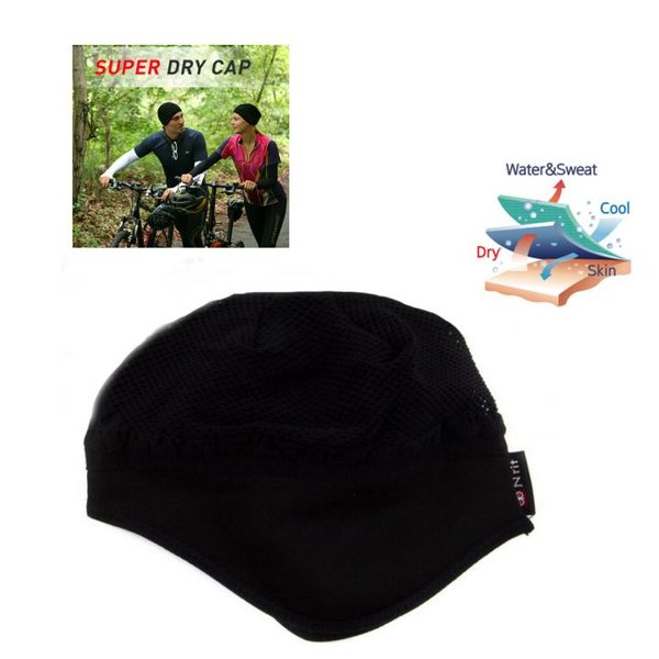 N-rit - SUPER DRY CAP - Sportmütze Funktionsmütze kühlend - schwarz