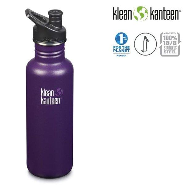 Klean Kanteen - Sport Classic Trinkflasche Brushed Stainless mit Sport Cap, 532ml