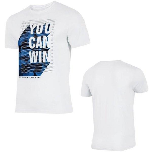 4F - you can win - Herren T-Shirt - weiß