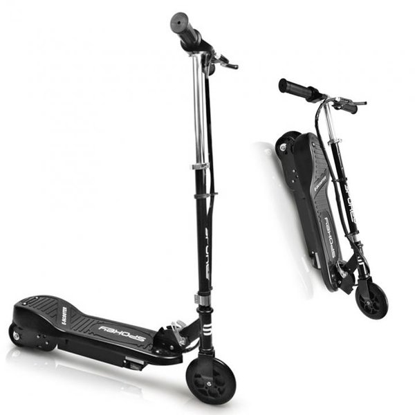 E-SCOOTER Spokey Enif - elektrischer Marken Roller mit 250W Motor - schwarz