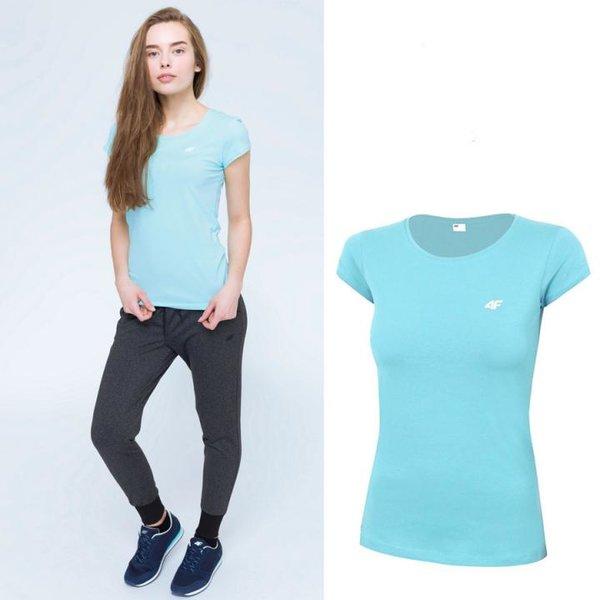 4F- Damen Basic T-Shirt 2019 - hellblau