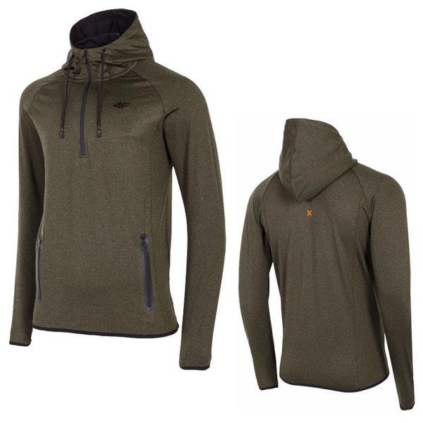 4F - Herren Sweat-Fleece Pullover - Hoody - olivgrün