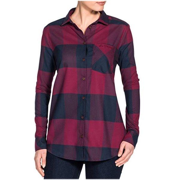 Vaude Damen Farsund LS Shirt Bluse, passion fruit, 40 M