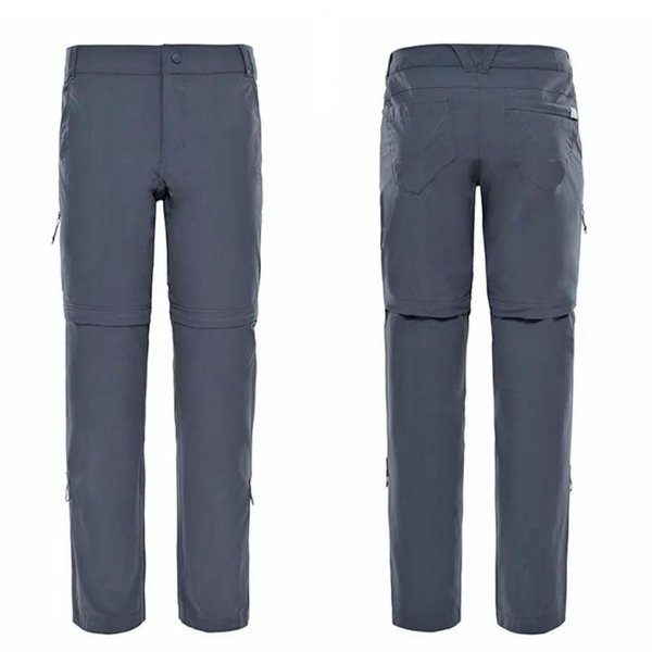 The North Face - Exploration - Damen Zip Off Wanderhose - schwarz
