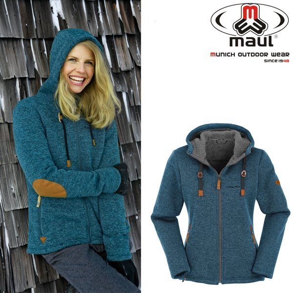 Maul CHIEMING dicke Damen Fleece Strickjacke