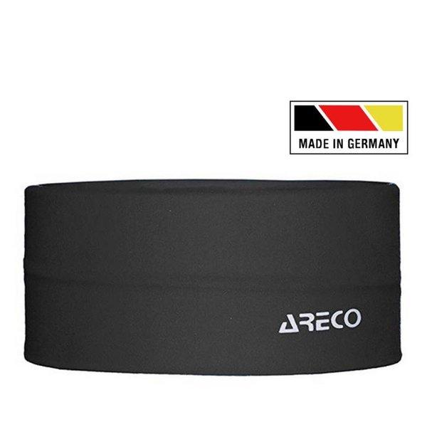 ARECO - Multifunktions-Stirnband Laufstirnband - Made in Germany - schwarz