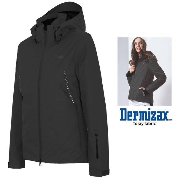 newest 3d5c7 836b8 Dermizax 20.000 - Damen 4F Hightech Skijacke TORAY Winterjacke - schwarz