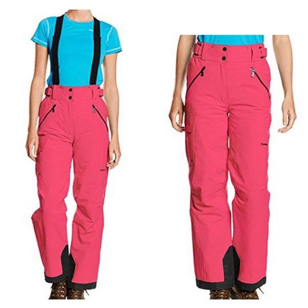 Trangoworld - DuPont FREE4MOVE - Damen Skihose Winterhose mit Trägern - pink-36/S