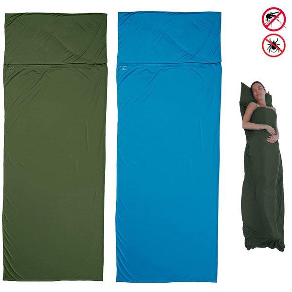 Craghoppers - NosiLife Sleeping Liner Hüttenschlafsack Leinen Schlafsack grün