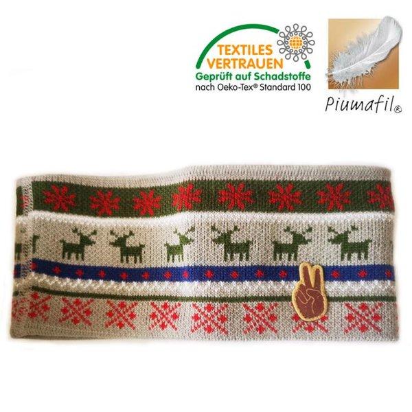 Piumafil - Strick-Fleece Stirnband Seger, grau grün