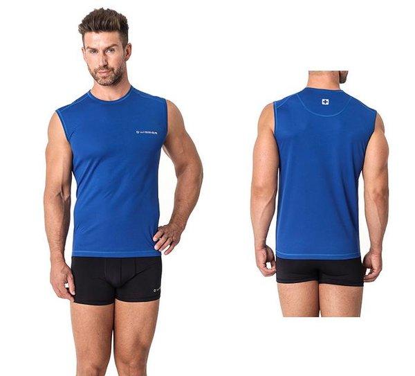 WISSER SWISS - Herren Sport Unterhemd - Sport Funktionsunterwäsche - blau