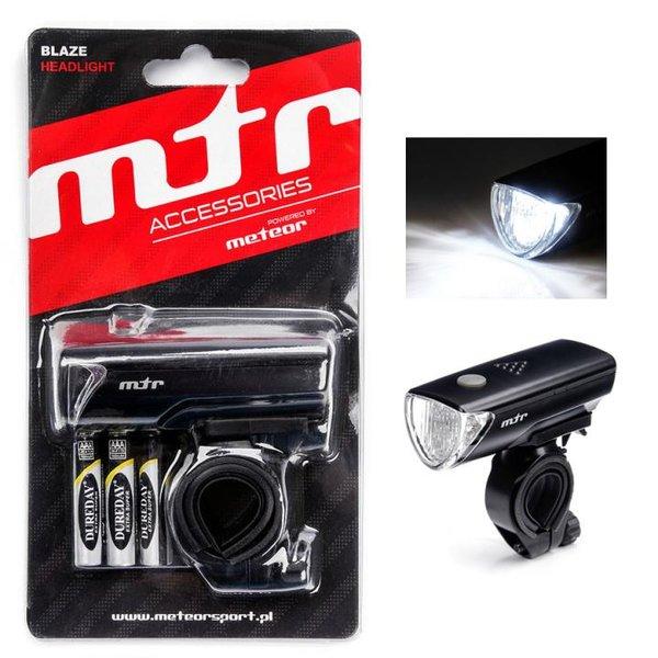 MTR - BLAZE LIGHT - Fahrradlicht Licht mit Halterung und Batterien