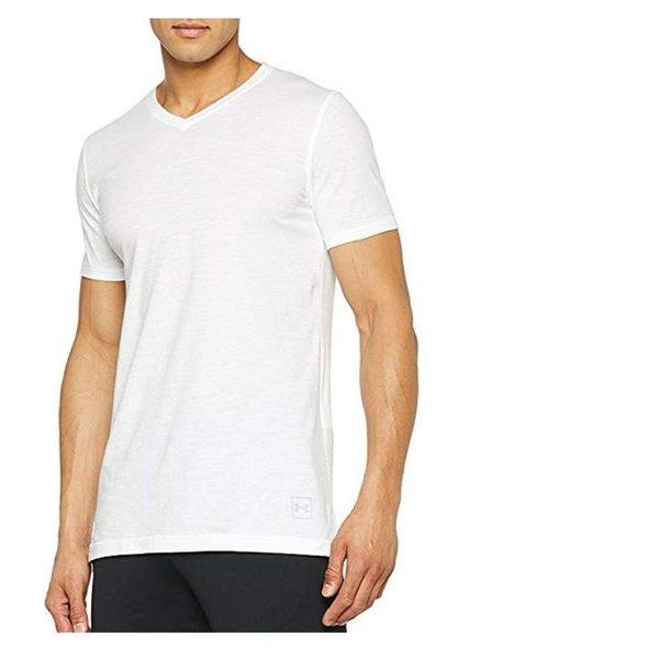Under Armour Herren Sportstyle Core V Neck Tee Kurzarmshirt, weiß S/M