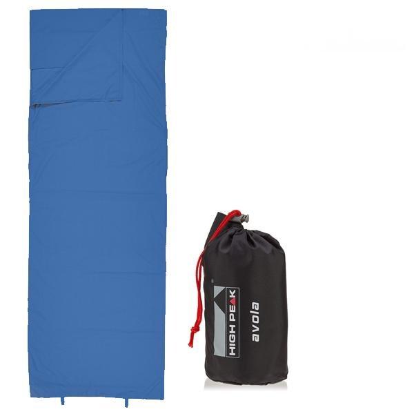 High Peak Hüttenschlafsack Schlafsack Decken Inlet Travel blau L