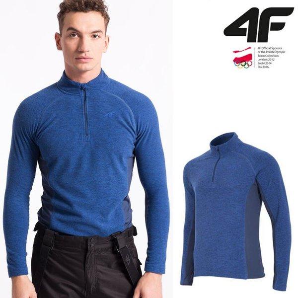 4F - Herren Fleece Langarmshirt