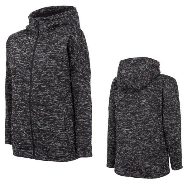 4F - Damen Strick-Fleece Jacke - grau melange
