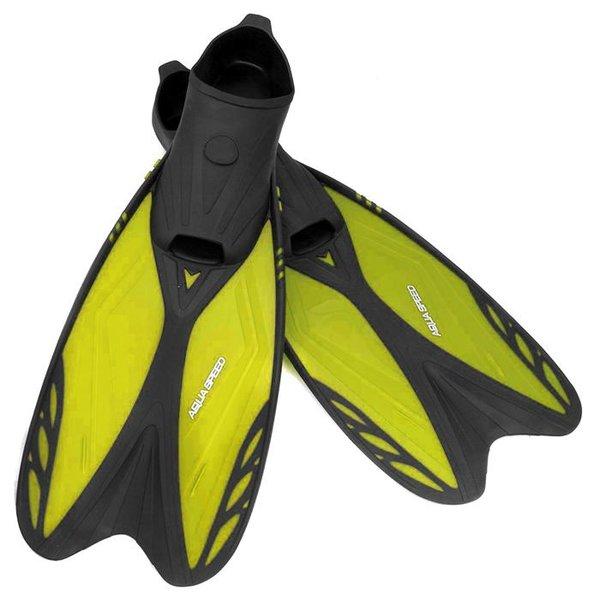 AQUA-SPEED - Flossen Taucherflossen für Erwachsene - Leicht und Stabil - mit Tasche - gelb