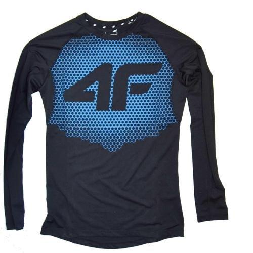 4F - Herren Sport Langarmshirt - schwarz