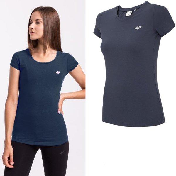 4F- Damen Basic T-Shirt 2019 - navy