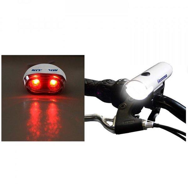 Michelin Erwachsene Beleuchtung Kombination aus Ultraheller LED Frontleuchte, Weiß