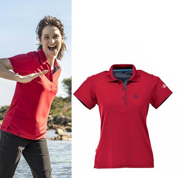 Maul - Aeschi - antibakterielles Damen Poloshirt - rot
