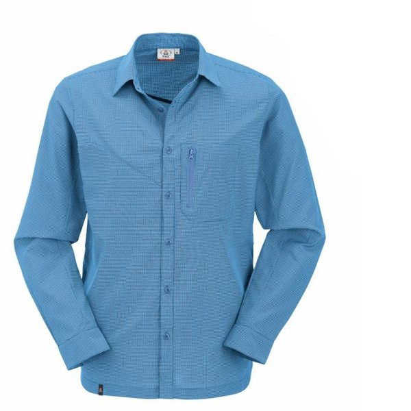 Maul - Hochgall SP - Herren Wanderhemd mit Insektenschutz - blau
