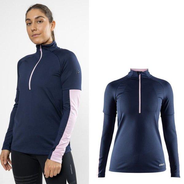 Craft - Prep Half Zip - Damen Langarmshirt - navy