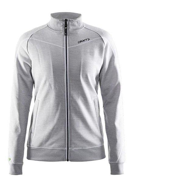 Craft - In-the-Zone Sweatshirt W - Damen Fleecejacke Sportjacke - grau