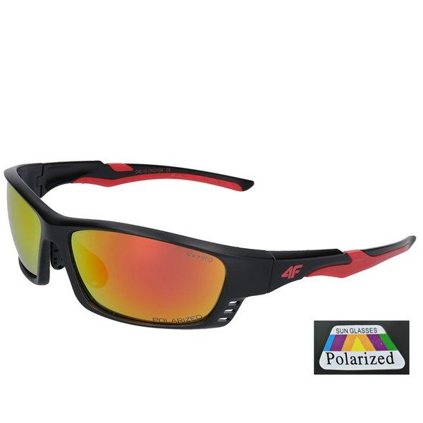 4F - Sportsonnenbrille Sportstyle - polarisierende Gläser - red black