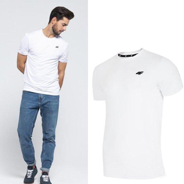 4F - Herren Sport T-Shirt - weiß
