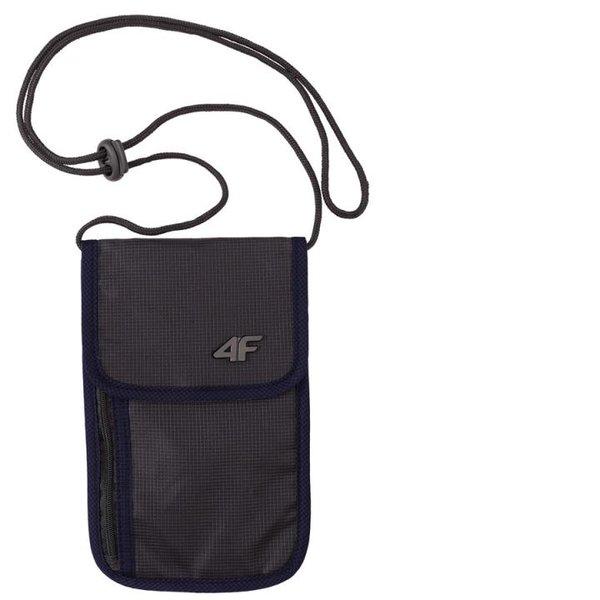 4F - Sicherheits Geldbeutel 2019 - robust kompakt um den Hals - schwarz