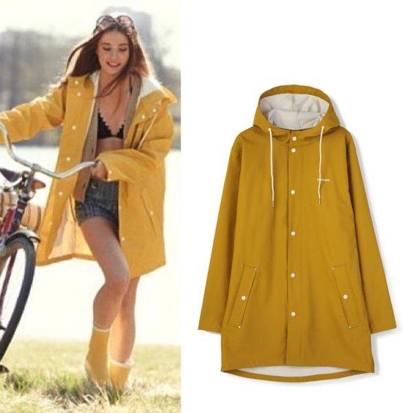 Tretorn - Wings Rain Jacket - Damen Regenmantel - senfgelb M