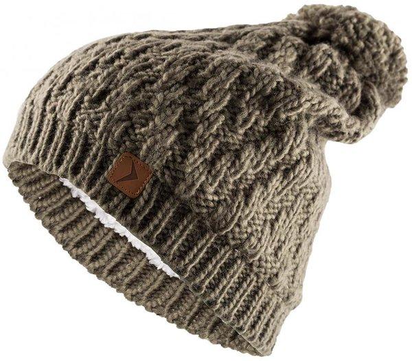 Outhorn - Strickmütze mit Bommel - dicke Wintermütze - khaki