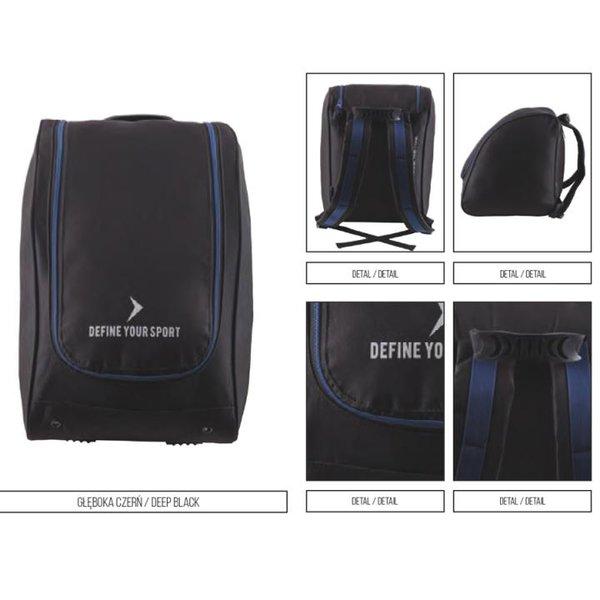 Outhorn - Marken Tasche für Skischuhe Snowboard-Schlittschuhschuhe Tasche - schwarz/blau
