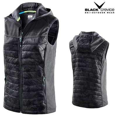 Black Crevice - Damen Übergangsweste Sportweste Hybrid Steppweste - schwarz