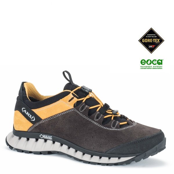 AKU - CLIMATICA SUEDE GTX Outdoorschuhe Goretex, schwarz gelb