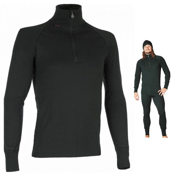 TERMO - ORIGINAL MEDIUM - Zip neck Longshirt mit Zpper Herren Funktionsshirt - schwarz