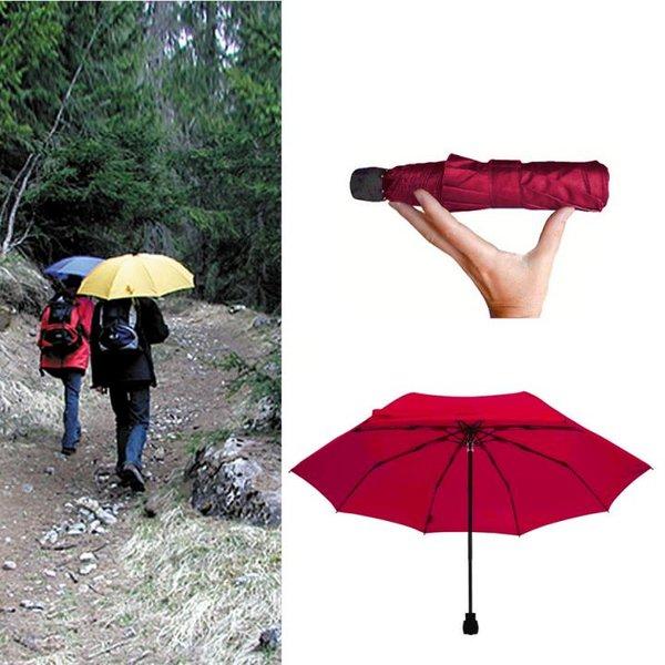 EuroSCHIRM - Göbel - Regenschirm Wanderschirm - light trek automatik, rot