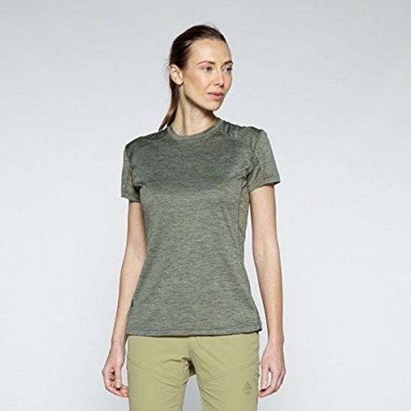 BERG OUTDOOR - Damen Shirt Wandershirt T-Shirt Sportshirt - grün - L 40