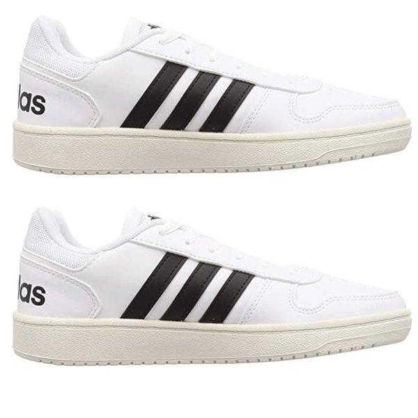 Adidas - Herren Hoops 2.0 Sneaker Schuhe, weiß