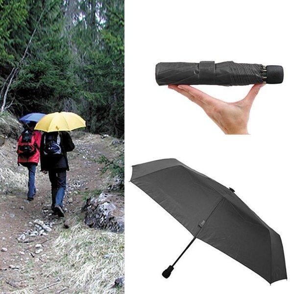 EuroSCHIRM - Göbel - Regenschirm Wanderschirm - light trek automatik, schwarz