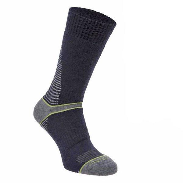 Silverpoint - On The Move Boot Sock - Merino Socken - navy grün