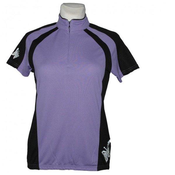 Climacool - Damen Sport- Fahrrad Shirt Double Speed Sportshirt - lila schwarz
