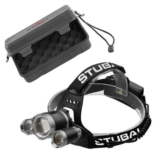 STUBAI - HOCHLEISTUNGSSTIRNLAMPE 600 lm +2*240 lm - 90° schwenkbar