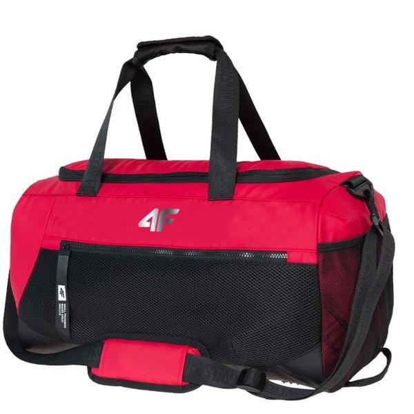 4F - STYLE Sporttasche 30L mit Schuhfach - Kollektion 2019 - schwarz rot
