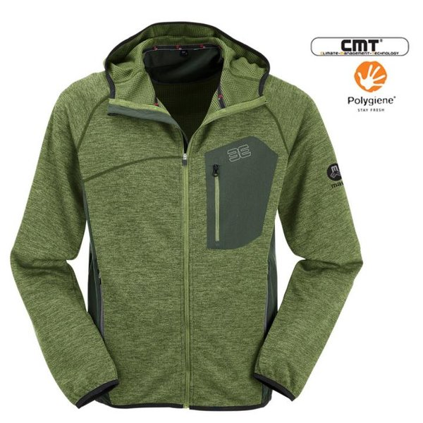 Maul - Languta XT - Herren funktionale Strick-Sportjacke - grün