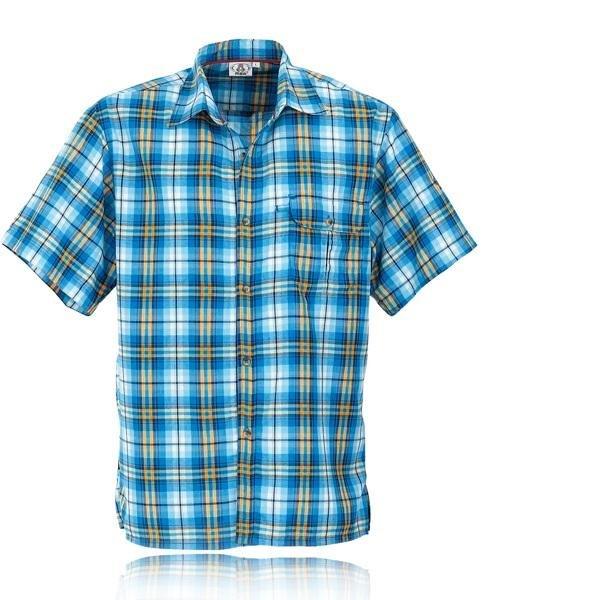 Maul - Asker - Herren Hemd MDS - blau/gelb-S