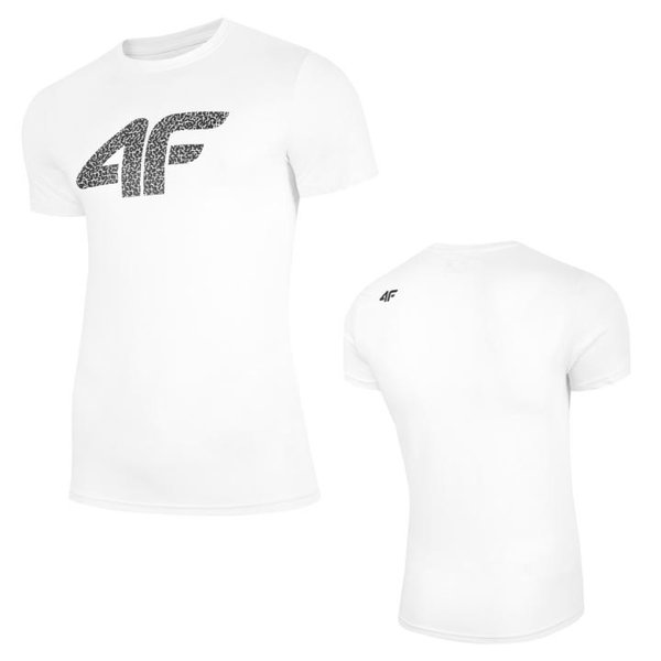 4F - Logo Baumwollshirt - Herren T-Shirt - weiß